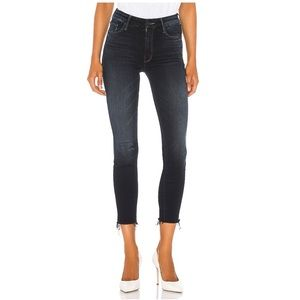 MOTHER-High Waisted Looker Ankle Fray